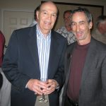 Stanley Moskowitz and Bob Rauch, the master-minds of the event, enjoy a glass together.
